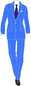 abito azzurro abbinamenti