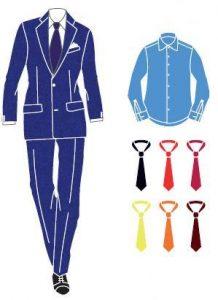 abito blu abbinamenti