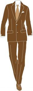 abito marrone abbinamenti